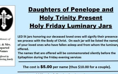 DOP Holy Friday Luminary Jars