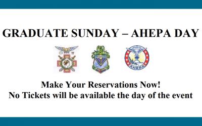 Graduate Sunday – AHEPA Day