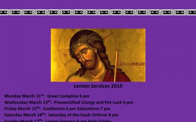 Lenten Services for 2019