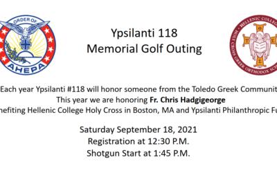 2021 AHEPA Memorial Golf Outing